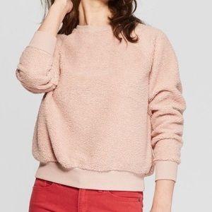 Universal Thread pink Sherpa teddy crew neck M